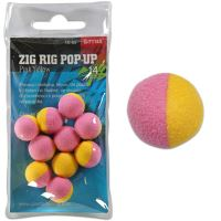 Giants Fishing Pěnové plovoucí boilie Zig Rig Pop-Up pink-yellow 10mm,10ks