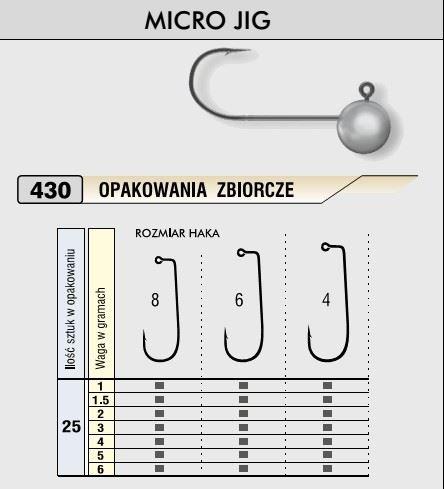 Kamatsu Jigová hlavička MICRO vel.6