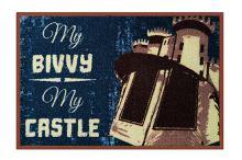 Rohož My bivvy my castle 60x40cm