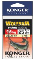 Konger Wolframové lanko 2ks 35cm/15kg