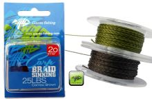 Giants Fishing Návazcová šňůrka Carp Braid Sinking 35lbs/20m Camou Brown