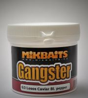 MIKBAITS - Boilie těsto Gangster 200g G3 Losos Caviar Black pepper