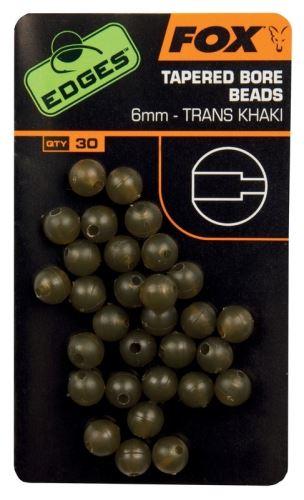 FOX - Gumové korálky Edges Tapered Bore Beads 6mm 30ks