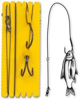 Black Cat - Návazec #6/0,#3/0 Black Cat Bouy and Boat Ghost Double Hook Rig L 100kg 1140cm