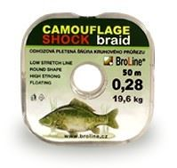 Broline Odhozová šňůrka Camouflage Shock 50m