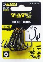 Black Cat - Trojháček  Black Cat Treble Hook DG DG coating 5pcs