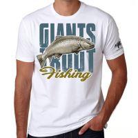 Giants Fishing Tričko pánské bílé Giants Fishing - Pstruh